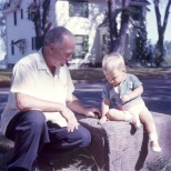 Carl F. Hanneman with grandson David Carl Hanneman, circa 1965.