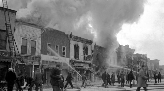 Carl Hanneman Documents Fire of the Century at Mauston