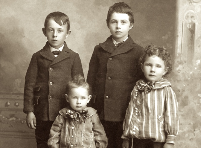 Photo Shows Hanneman Brothers in 1903