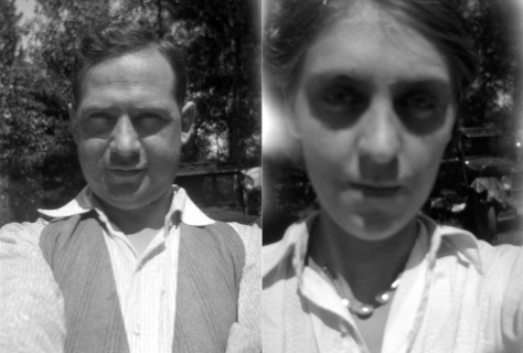 Carl F. and Ruby V. Hanneman took these selfies on their honeymoon in July 1925.