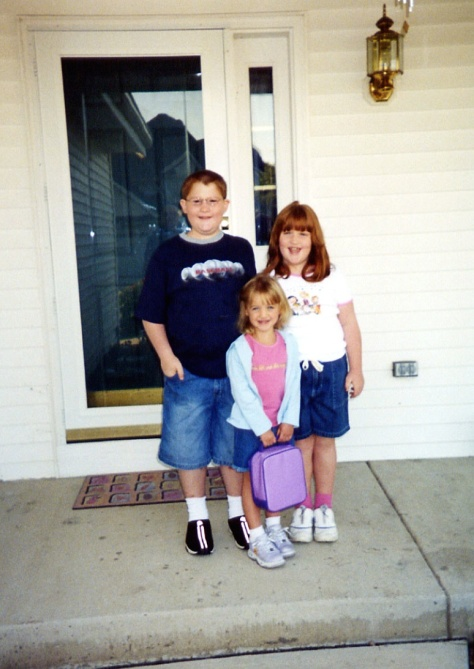 Stevie, Ruby and Samantha on the first day of school.