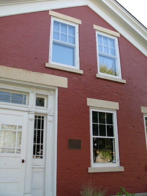 Sewall Andrews built his red brick house in Mukwonago in 1842.
