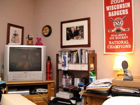 The cluttered brilliance of my home office.