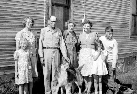 Walter Treutel with second wife Vera (at left), sister Emma Carlin, daughter Ruby Hanneman and grandchildren Lavonne and David D. Hanneman.