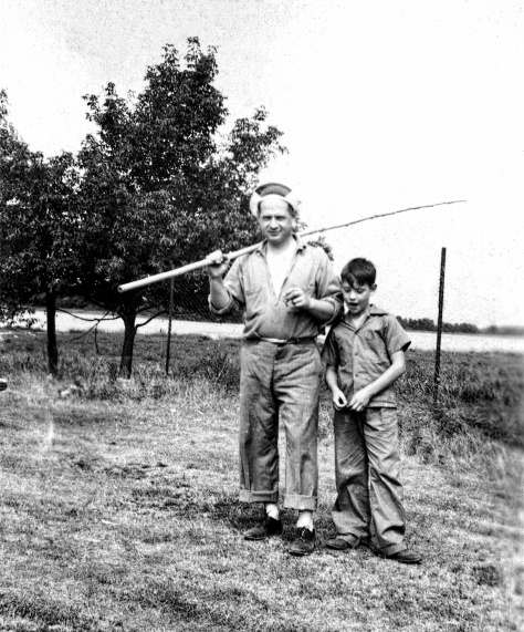 Carl F. Hanneman and son David D. Hanneman.