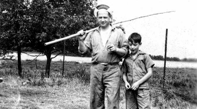 Poignant Photo: Fishin' with Dad in 1942