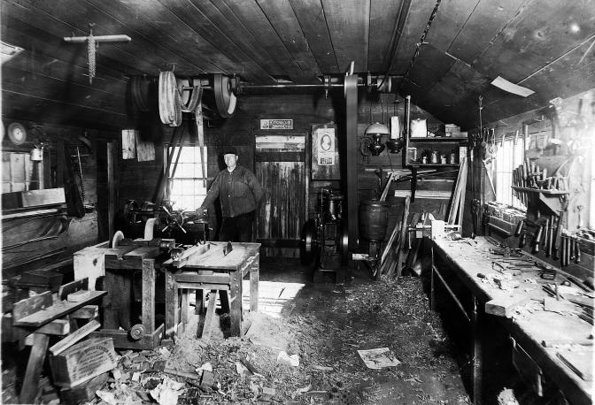 Treutel Bros. Blacksmith Shop at Vesper, Wisconsin