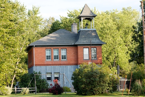 The old Vesper Graded School is now a private home, shown here in 2006.