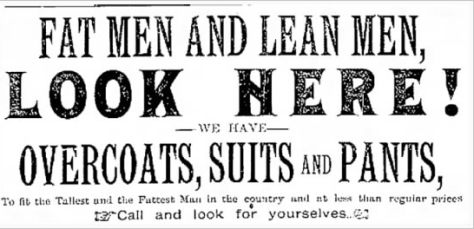The Waukesha Journal carried this ad in November 1889.