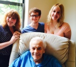 Samantha, Stevie and Ruby with Gramps.
