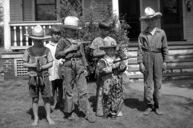 Neighborhood Cowboys of 1930 Wisconsin Rapids