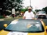 Sun Prairie Mayor David D. Hanneman rides in a local parade, circa 2004.