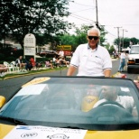 Sun Prairie Mayor David D. Hanneman rides in a local parade, circa 2004.
