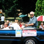 Sun Prairie Mayor David D. Hanneman waits to enter the parade route in Sun Prairie, circa 2003.