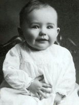 Nina Treutel of Vesper, Wis., is about 18 months old in this circa 1916 photograph. Nina's parents are Walter Treutel and Mary Helen (Ladick) Treutel.