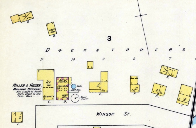 Maps Show Detail of Old Mauston Brewery