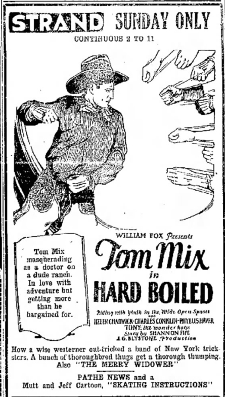 Youth flocked to see their hero Tom Mix and his steed, Tony the Wonder Horse.