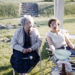 Grandma Margaret M. Mulqueen along with Aunt Evelyn Mulqueen.
