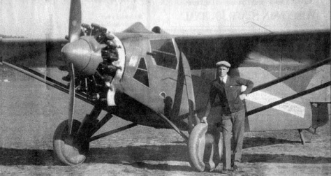 Pilot Howard Morey of Madison flew over Portage in an attempt to locate the murder weapon.