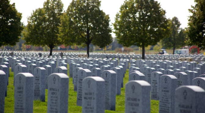 Three Rifle Shots, Taps and a Final Salute