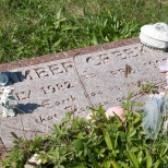 Murder victim Amber Creek, buried at Holy Family Catholic Cemetery, Caledonia, Wis.