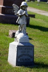 An angel at St. Mary's Cemetery in Portage, Wis.