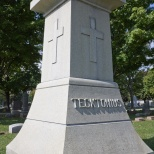 One of the sturdier monuments at Calvary Cemetery, Racine, Wis.