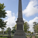 The Gillen Family monument in Racine, Wis.