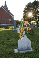 One of the prettiest grave decorations, Holy Rosary Cemetery, Sigel, Wis.