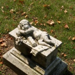 An infant rests here.