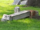 The work of vandals at Calvary Cemetery, Racine, Wis.