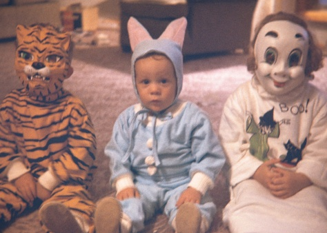 My brother David (left), yours truly at center at cousin Laura all set for Halloween at our home in Grand Rapids, Mich., circa 1964.