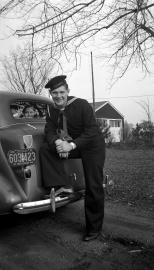 Donn G. Hanneman in his U.S. Navy uniform in 1944.