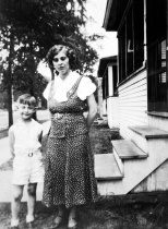 Donn G. Hanneman with mother Ruby.