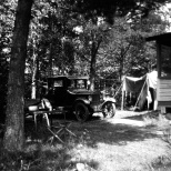 The Hanneman honeymoon had a rustic theme at a cottage near Hayward, Wis.