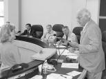 Dave Hanneman presides at a Sun Prairie City Council meeting.