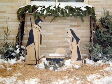 The original Nativity scene as built by David D. Hanneman, circa 1967.