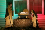 The fully restored Nativity scene on display in Mount Pleasant, Wis., in December 2008.