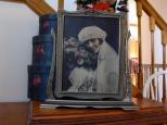 The bridal portrait of Ruby V. Hanneman in its original frame.