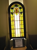 The main window section in the St. Mary's Hospital atrium as it looked at the dedication in December 2007.