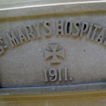 St. Mary's integrated many items from its history in the new east wing, including the original 1911 hospital cornerstone.