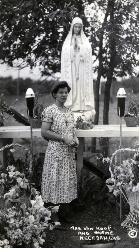 Mary Ann Van Hoof at her farm near Necedah, Wisconsin.