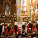 The Knights of Columbus Honor Guard at the 2007 funeral of David. D. Hanneman.