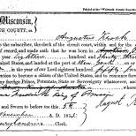 Declaration of Intent for Augustus Krosch