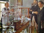 """Despite the professional skill and integrity of 19th-century pharmacists, seldom did two preparations of vegetable drugs have the same strength, even though prepared by identical processes. Plant drugs varied widely in active alkaloidal and glucosidal content. The first answer to this problem came when Parke, Davis & Company introduced standardized """"Liquor Ergotae Purificatus"""" in 1879. Dr. Albert Brown Lyons, as the firm's Chief Chemist, further developed methods of alkaloidal assay. Messrs. Parke and Davis recognized the value of his work, and in 1883, announced a list of twenty standardized """"normal liquids."""" Parke-Davis also pioneered in developing pharmacologic and physiologic standards for pharmaceuticals."""