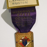 Carl F. Hanneman was a delegate to the 1937 Wisconsin convention of the Knights of Columbus.