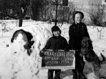 Stevie Wilson and Laurni Lee Wilson made their own Christmas greeting in December 1942.