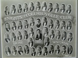 The Knights of Columbus Glee Club in Racine, Wis., provided entertainment around the city in the 1920s.