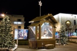 Every year the K of C helps set up a Nativity scene on Monument Square in Racine, Wis.
