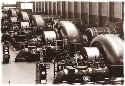 Steam turbines at the Lakeside Power Plant.
